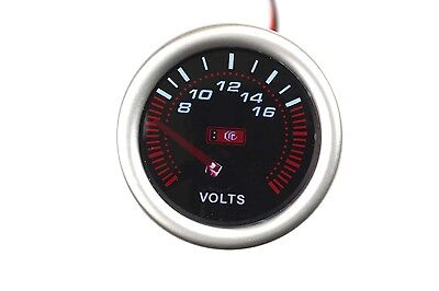 "GAUGE VOLTAGE METER CAR DIAL LED LIGHT WHITE LED 7701-2,  2"" INCHES ,52mm"