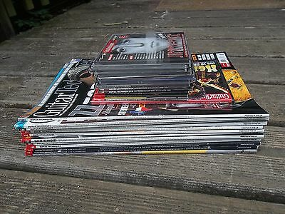 Job Lot of 13 Guitar Techniques Magazines from 2008 - complete set including Cds