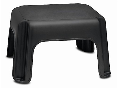 Step Stool Sturdy Non Slip For House Cleaning Baby Helper Cabinet Reacher Black