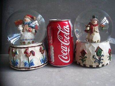 BNWT Musical Snowy Xmas Snow Globe 15.5cm Tall Snow Dome by Gisela Graham BNWT