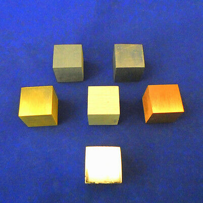 Cube Metal Set of 6 - 20mm - ME004-0620
