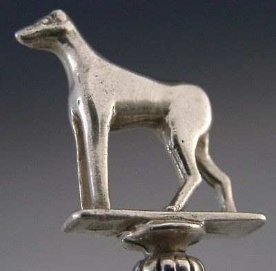 QUALITY STERLING SILVER GREYHOUND DOG SPOON c1930 ANTIQUE