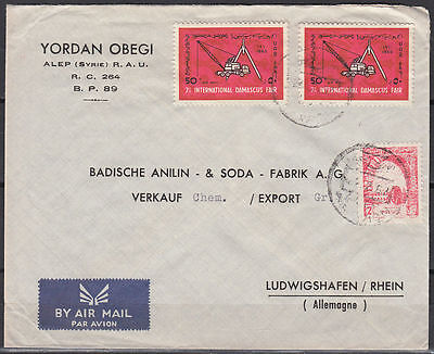 1962 Syrien Syria Cover to Germany, Damaskus Fair Messe [cm939]