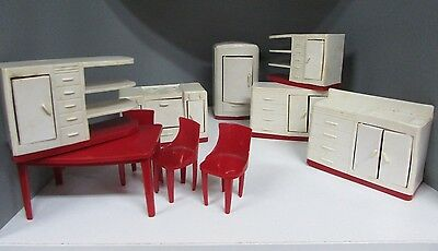 RARE COLLECTION AUSTRALIAN MARQUIS DOLL HOUSE FURNITURE KITCHEN FRIDGE 40s 50s