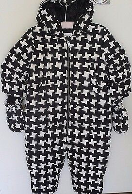 Burberry Baby Houndstooth Snow Suit Jacket 24 Months 92Cm