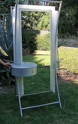 Free Standing Mirror Beauty Station Salon, Double Sided, Powerpoint, Drawer