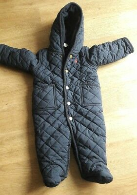 Pre Owned Infants Ralph Lauren Navy Blue Baby Warmer Size 6 Months