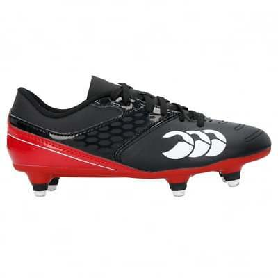 Canterbury CCC Kid's Phoenix Raze SG Rugby Boot Black True Red