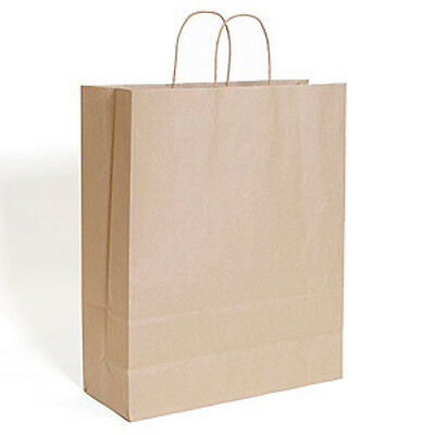 """Lot of 200 Retails Brown kraft shopping bag with handles 16""""x6""""x19 """""""