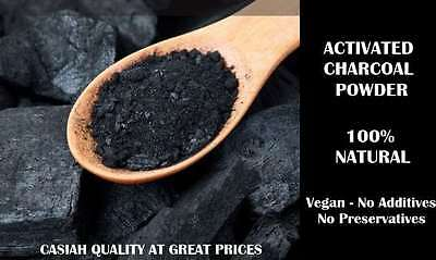 Activated Charcoal Teeth Whitening Powder Toothpaste Fluoride-Free