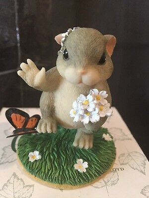 """Charming Tails By Fitz And Floyd """"Maid Of Honor"""" Figurine MIB 🐰🐰🐰"""