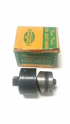 """New - Greenlee 1-3/16"""" Round Radio Chassis Knock Out Punch Set - Model 730 - Usa"""