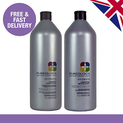 Pureology Hydrate Shampoo and Conditioner Duo | 1000ml | Salon Size 1 Litre
