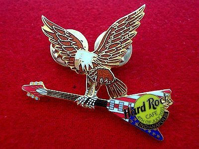 HRC Hard Rock Cafe Indianapolis 4th July 2001 Eagle + Guitar LE400