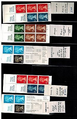 5 BOOKLETS FH21 FH23 FH21 FB56  FB56  ERROR PHOSPHORS all PANES approx cat 75+