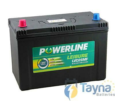 LVC26MF Powerline Batterie Camping Bateau 12V