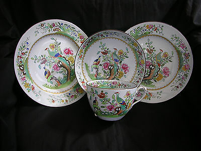 """Early 20Th Century Copeland/spode """"exotic Birds"""" Breakfast Cup Foursome"""