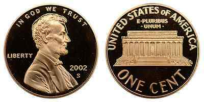 2002-S Proof Lincoln Memorial Cent Penny Deep Cameo , FREE SHIPPING!