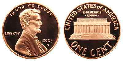 2005-S Proof Lincoln Memorial Cent Penny Deep Cameo , FREE SHIPPING!