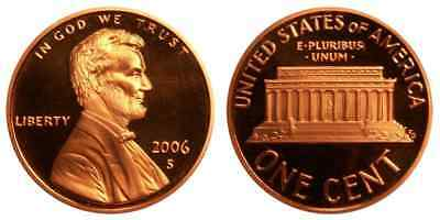 2006-S Proof Lincoln Memorial Cent Penny Deep Cameo , FREE SHIPPING!
