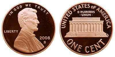 2008-S Proof Lincoln Memorial Cent Penny Deep Cameo , FREE SHIPPING!