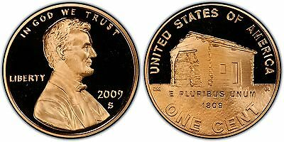 """2009-S """"Cabin"""" Proof Lincoln Memorial Cent Penny Deep Cameo , FREE SHIPPING!"""