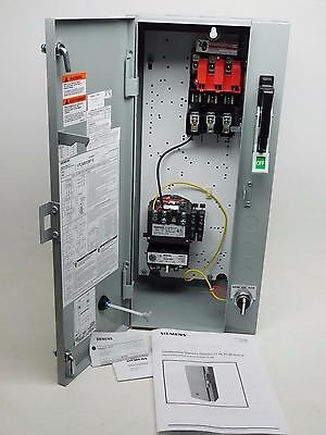 New! Siemens 17Csb92Bf10 Starter  Magnetic Combination Fusible Three 3 Phase Po