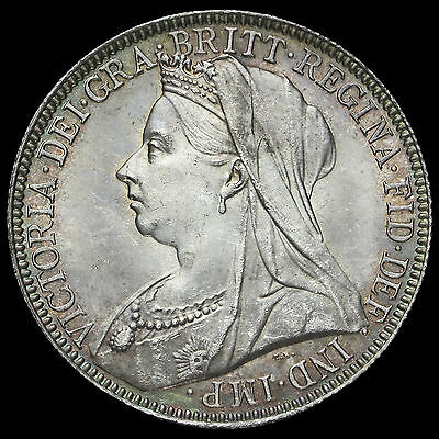 1900 Queen Victoria Veiled Head Silver Florin, UNC