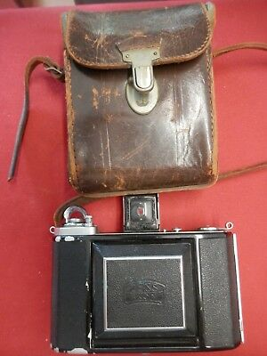 Vintage Zeiss Ikon Novar Anastigmat 1:3.5 F=7.5cm Camera With Case FAST SHIPPING