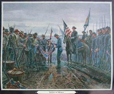 """Salute of Honor"" Mort Kunstler Civil War print"