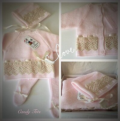 Spanish Romany Baby Girl Outfit / Set Pink Romany Size 0-3m New Stock