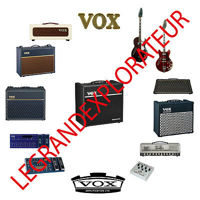 Ultimate  VOX  Operation Repair Service Manual Schematics Collection on DVD