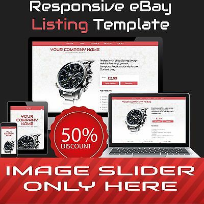 Professional eBay Listing Design   Mobile Friendly Dynamic Template Auction 2017