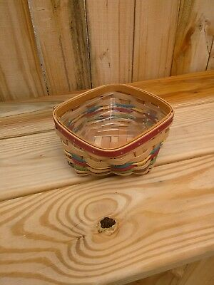 Longaberger 2012 Small Twist Basket with Protector.