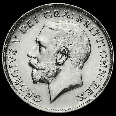 1913 George V Silver Sixpence, Scarce, GVF