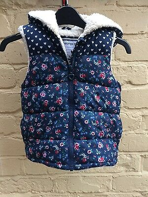 gilet age 12-18 months girls by T.u floral with hood, fleece lined