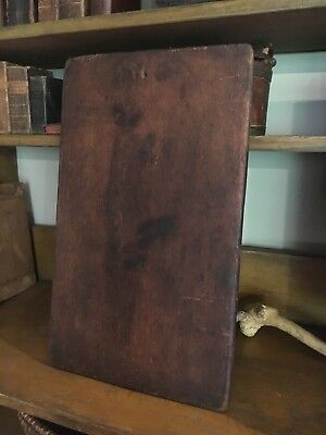 Early Old Antique Primitive Wooden Wood Cutting Board Dark