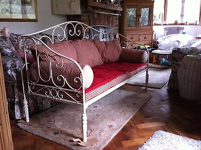 Traditional French Day Bed/Sofa - fitted cotton cushions and bolsters (made by C