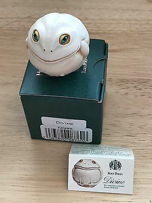 Harmony Kingdom RETIRED Roly Poly DIVINE the Frog #TJRPFR Artist Adam Binder NIB