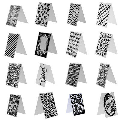 Plastic Embossing Folder 16 Types DIY Scrapbooking Photo Album Card Paper Decro