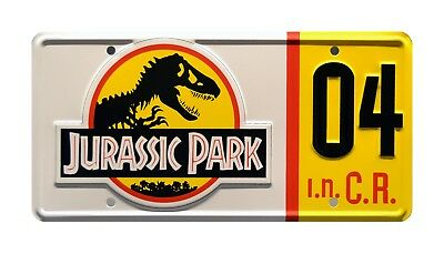 Jurassic Park | Ford Explorer | #04 | Metal Stamped Replica Prop License Plate