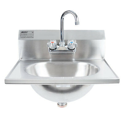 Eagle Group HSA-10-F Stainless Steel Wall Mount Hand Sink with Faucet