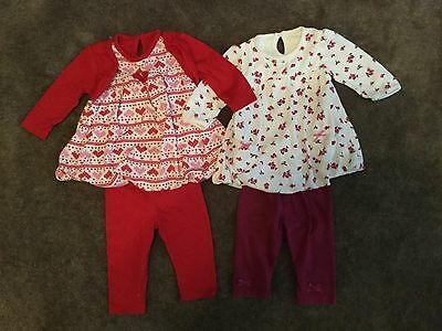 #85  2 x outfits  for baby girl 0-3 months