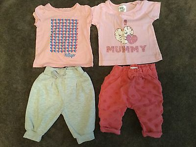 #86  2 x Tops & Joggers  for baby girl 0-3 months