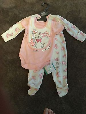 Brand new with tags - Mothercare 3 piece Aristocats set 0-3 months