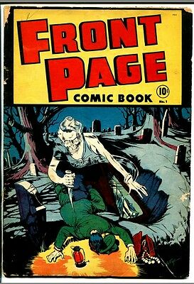Front Page comic book #1 Harvey 1945 first appearance of The Man in Black