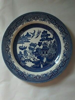 """Churchill England Blue Willow Dinner Plate Single One Replacement 10.5"""""""