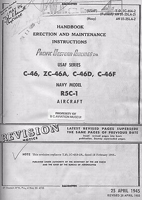 Handbook-Erection And Maintenance Instructions Usaf Series C-46, Zc-46, C-46D