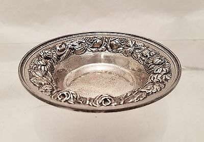 Sterling Repousse Candy / Nut Dish by Stieff