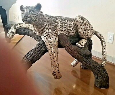 D'argenta Very Large Resting Leopard. Signed Limited Edition !!!!